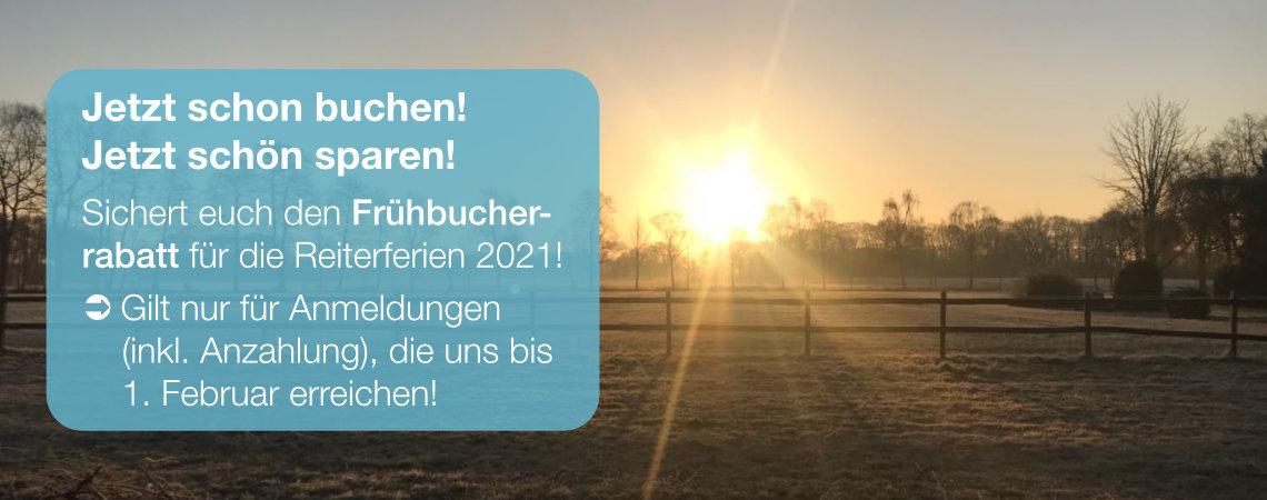 Frühbucherrabatt bis 1.2.2021